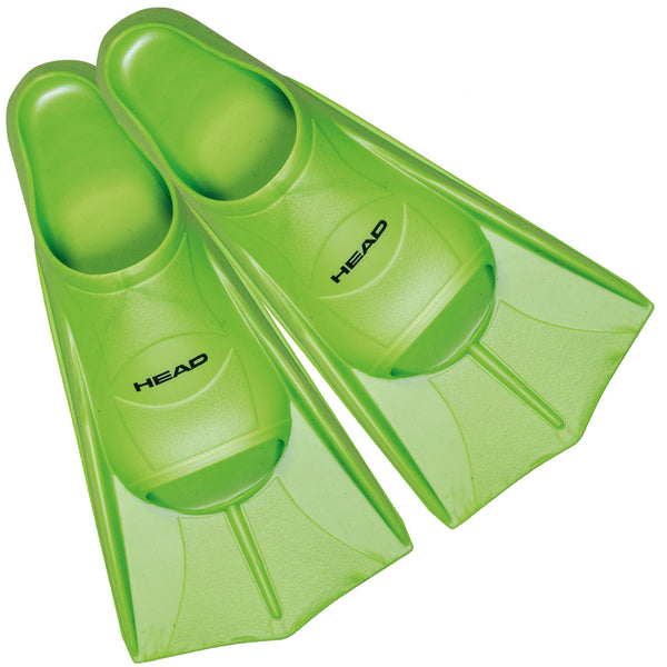 Head Soft Swim Training Fins - Size 31.5 - 33 Lime