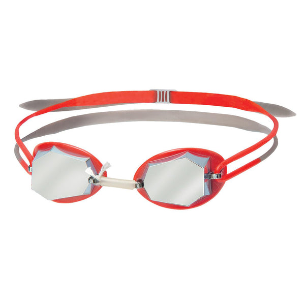 Head Diamond Mirrored Goggles | Silver/Red