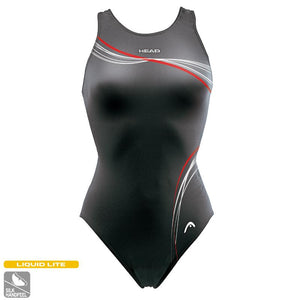 Head Techno Med-Leg Swimming Costume | Black