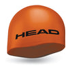 Head Moulded Silicone Swim Cap | Orange