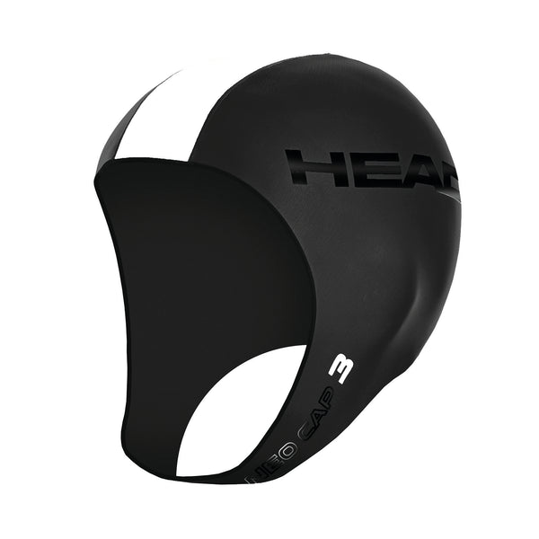 Head Neoprene Swimming Cap for Open Water | Black/White