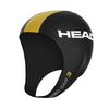 Head Neoprene Swimming Cap for Open Water | Black/Gold