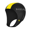 Head Neoprene Swimming Cap for Open Water | Black/Yellow