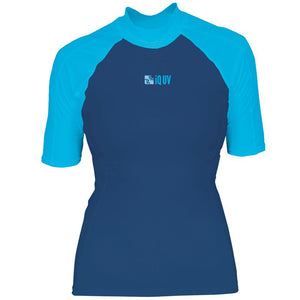 iQ UV300 Short Sleeve Rash Vest | Blue/Turquoise