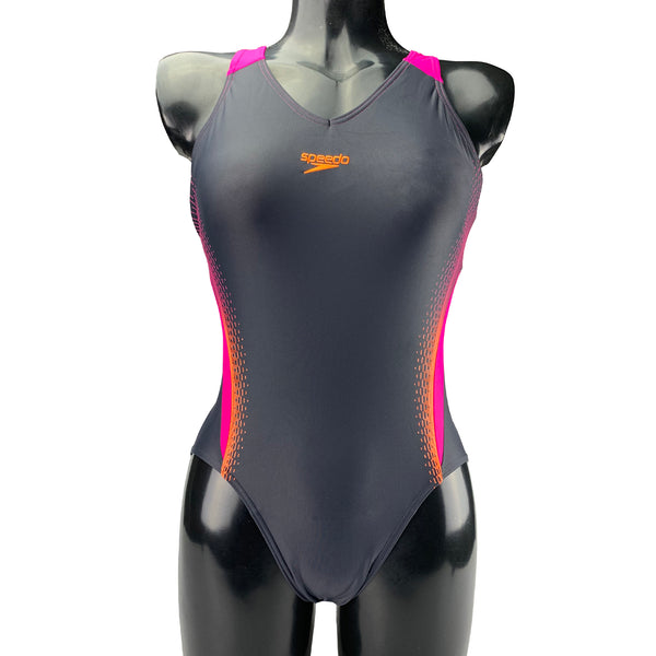 Speedo V Neck Placement Medalist Swimsuit