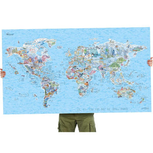 Awesome Maps World Dive Map 'Dive Bucket List' | Being Held