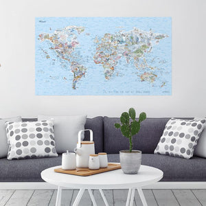 Awesome Maps World Dive Map 'Dive Bucket List' | On The Wall