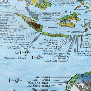 World Surf Map 'Bucket Surf List' | Detail 1