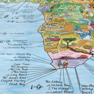 World Surf Map 'Bucket Surf List' | Detail 3