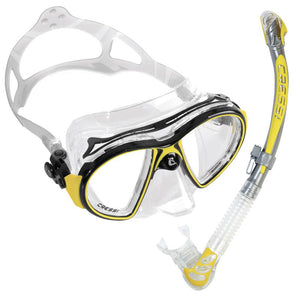 Cressi Air Mask & Semi Dry Snorkel Set