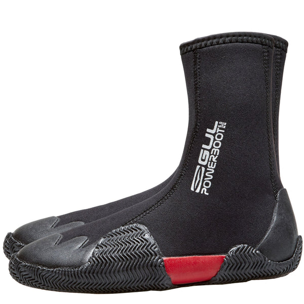 Gul Junior 5mm Zipped Round Toe Wetsuit Boots | Silver logo