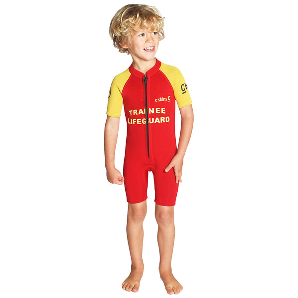 C-Skins C-Kid Trainee Lifeguard 3/2mm Shorty Wetsuit | Front