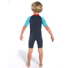 C-Skins Baby C-KID Waves Shortie Wetsuit Ink/Turquoise/Red Back