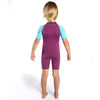 C-Skins Baby C-KID Waves Shortie Wetsuit | Violet/Cyan Back