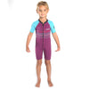 C-Skins Baby C-KID Waves Shortie Wetsuit | Violet/Cyan Front