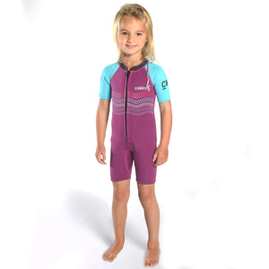 C-Skins Baby C-KID Waves Shortie Wetsuit | Violet/Cyan