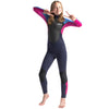 C-Skins Element Junior 3/2mm Wetsuit | Slate Magenta Powder Blue Front