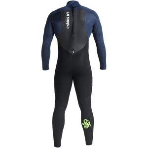 C-Skins Legend 4/3mm Wetsuit | Back Black/Bluestone/Lime