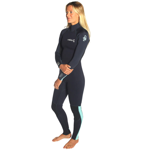 C-Skins Surflite 4/3mm Women's Wetsuit | Left Side Modeled