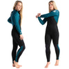 C-Skins Surflite 5:4:3mm Womens Wetsuit Black/Marine Blue Side
