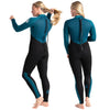 C-Skins Surflite 5:4:3mm Womens Wetsuit Black/Marine Blue Back & Side
