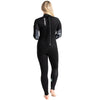 C-Skins Surflite 5:4:3mm Womens Wetsuit Black/Raven Back