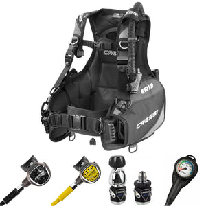 Cressi Advanced Diver R1 BCD and MC9 XS Compact Pro SC Regulator Package