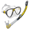 Cressi Big Eyes Evolution Crystal Mask & Alpha Ultra Dry Snorkel