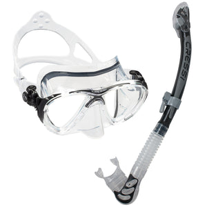 Cressi Big Eyes Evo Mask & Alpha Ultra Dry Snorkel | Black