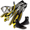 Cressi Frog Plus Fins & Big Eyes Evo Mask & Snorkel Set