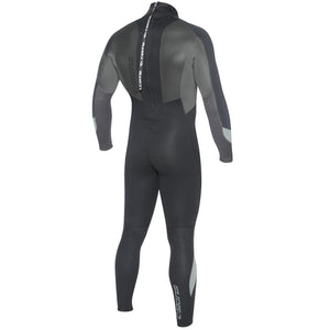 C-Skins Surflite 3/2mm Neoprene Wetsuit | Black/Gunmetal Back