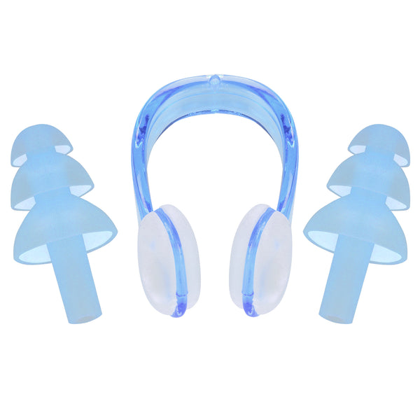 Cressi Ear Plugs & Noseclip Set | Blue