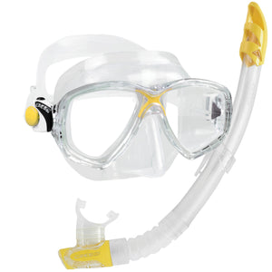 Cressi Marea VIP Adult Snorkelling Set | Yellow