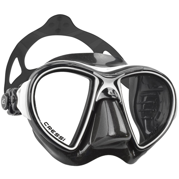Cressi Air Black Diving Mask | Black/Black/White
