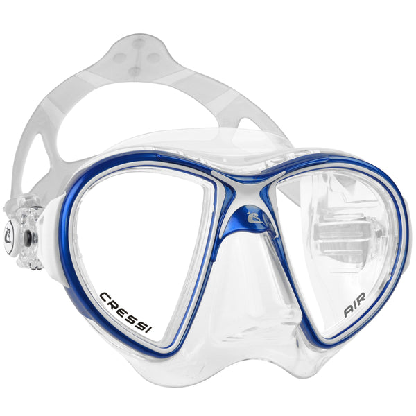 Cressi Air Crystal Diving Mask | Blue/White