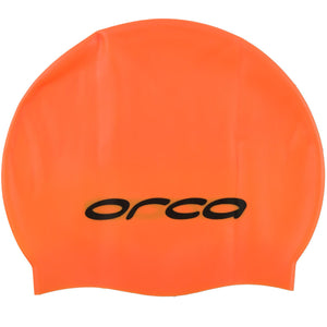 Orca Silicone Swim Cap | Hi Vis Orange
