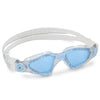 Aqua Sphere Kayenne Compact Swimming Goggles - Clear Powder Blue/Blue Tinted Lens