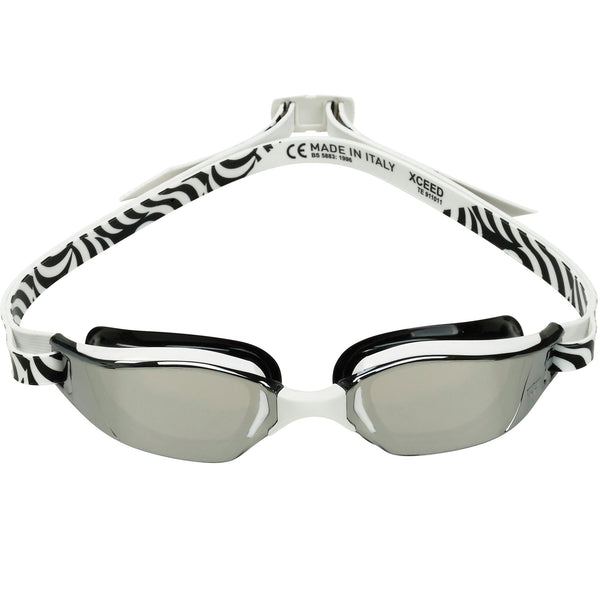 Phelps XCEED Swimming Goggles with Mirrored Lenses - Front
