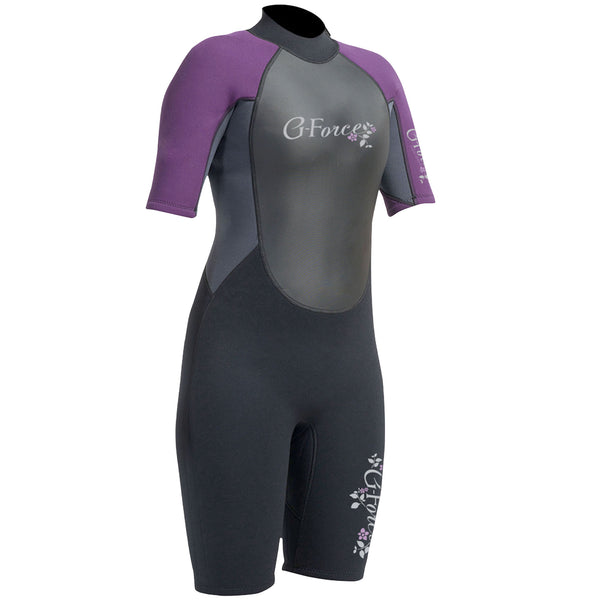 Gul G-Force 3/2mm Women's Shorty Wetsuit | Black/Mulberry