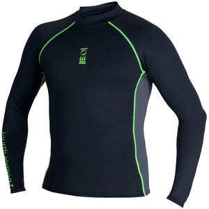 Fourth Element Hydroskin UV Mens Long Sleeve Rash Vest | Black
