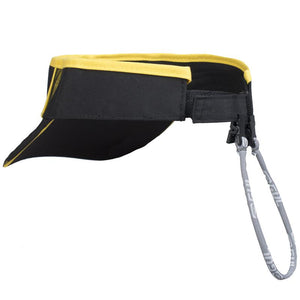 Gul Code Zero Quickdry Visor | Black/Yellow Back