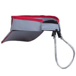 Gul Code Zero Quickdry Visor | Silver/Red Back