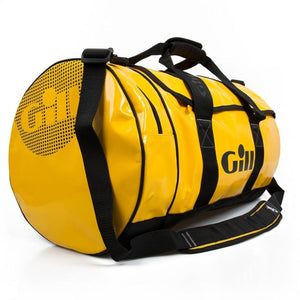 Gill 60L Tarp Barrel Bag | Yellow Side
