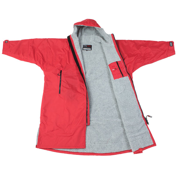dryrobe Advance Long Sleeve | Red/Grey