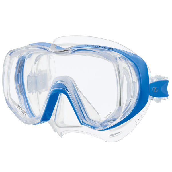 Tusa Freedom Tri Quest Mask - 3 window Dive Mask in Fishtail Blue