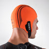 Zone3 Neoprene High Vis Orange Swim Cap Adjustable Velcro Strap
