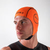 Zone3 Neoprene High Vis Orange Swim Cap Side
