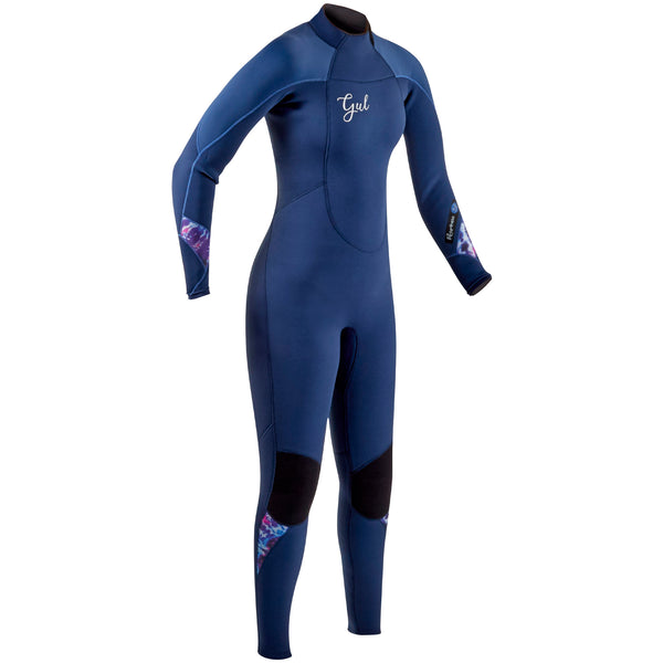 Gul Response 4/3mm Women's Wetsuit Front - Ink Blue