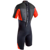 Gul Response 3/2mm Men's Shorty Wetsuit in Black and Red - Back