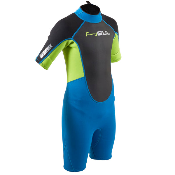 Gul Response 3/2mm Junior Shorty Wetsuit | Blue/Lime